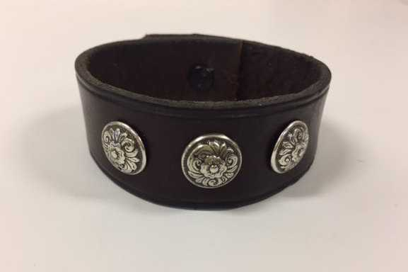 Leather Kentucky Rose Bracelet, Equestrian Horse Shop