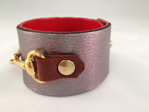 Cowtown Leather Cuff, Horse Bit Cuff,  Equestrian Riding Style, Horse Lover Vibe