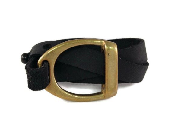 Double In Big D Black Latigo Leather Wrap, Equestrian Horse Shop