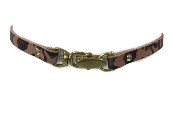 Oh Snap English Bridle Leather Camo Print Belt, Horse Tack Shop Accessory