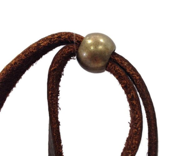 Stirrup Cup #1 Long Leather Necklace,  Equestrian Horse Tack Store