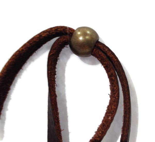 Stirrup Cup L Long Leather Necklace, Equestrian Horse Tack Shop Accessories