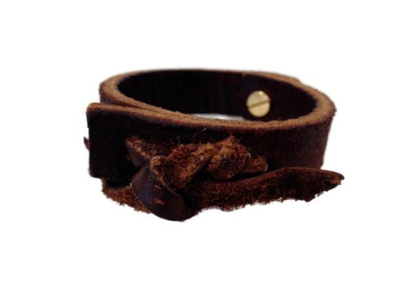 Vintage Knots Leather Cuff, Recycled Equestrian Horse Tack Shop Accessory, Recycled Horse Item,